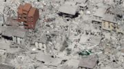 This aerial photo shows the damaged buildings in the historical part of the town of Amatrice, central Italy, after an earthquake, Wednesday, Aug. 24, 2016. The magnitude 6 quake struck at 3:36 a.m. (0136 GMT) and was felt across a broad swath of central Italy, including Rome where residents of the capital felt a long swaying followed by aftershocks. (ANSA/AP Photo/Gregorio Borgia) [CopyrightNotice: Copyright 2016 The Associated Press. All rights reserved. This material may not be published, broadcast, rewritten or redistribu]