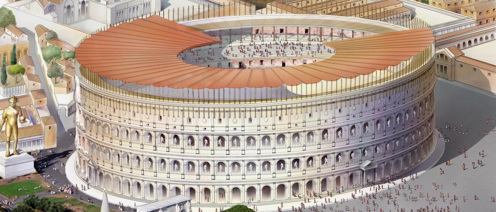 Una Tra Le Sette Meraviglie Del Mondo Il Colosseo