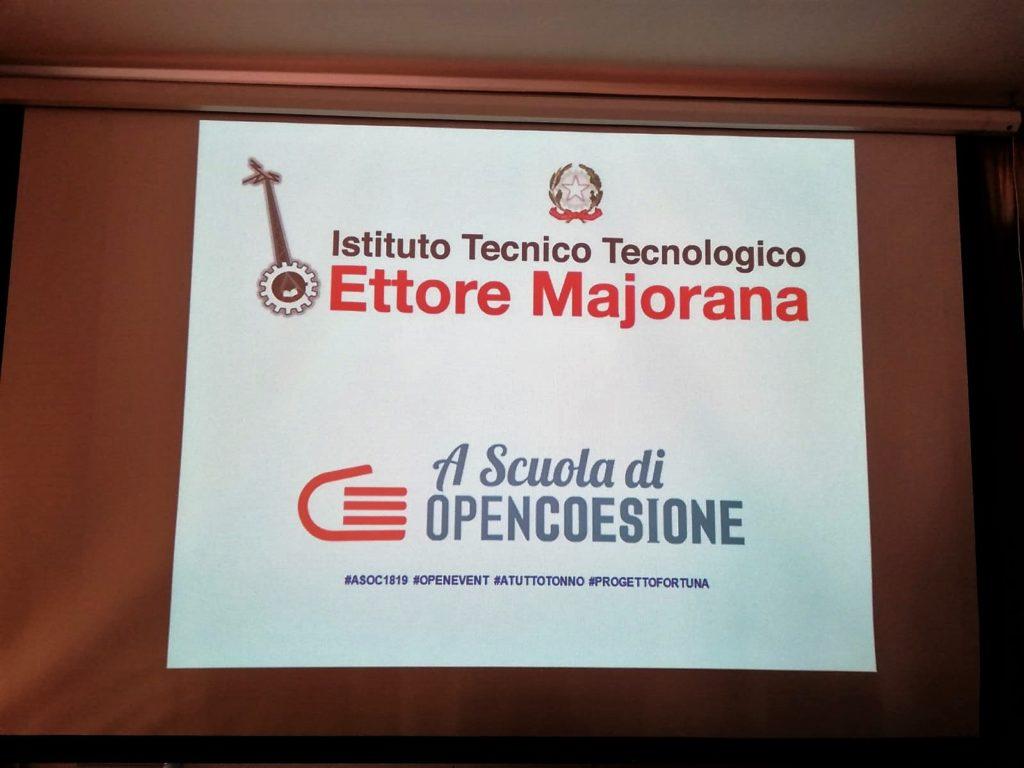 """Si è svolto sabato 23 marzo 2019 l'importante """"Open Event"""" organizzato dall'ITT """"E. Majorana"""" in seno alla settimana dei dati aperti e del progetto A Scuola di OpenCoesione"""