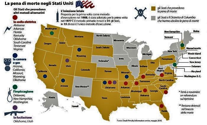 pena di morte negli stati uniti d'america