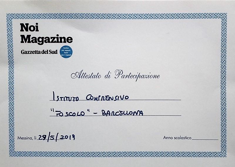 """Su """"Noi Magazine"""" sempre presente la """"Foscolo"""""""