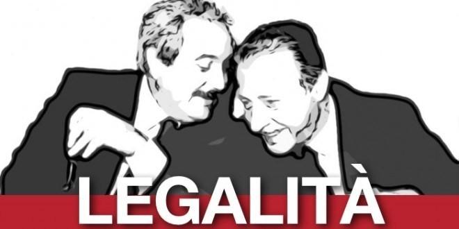 LEGALITA' CONTRO LA MAFIA FALCONE E BORSELLINO SIMBOLI