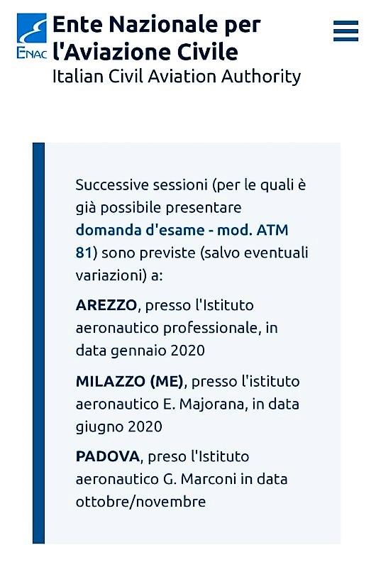 """ENAC, gli esami licenza FISO (controllore di volo) all'I.T.T. """"E. Majorana"""""""