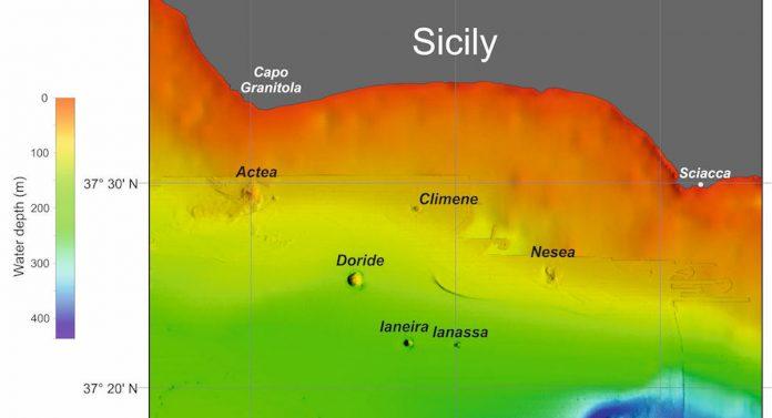 Sei vulcani sottomarini scoperti in Sicilia