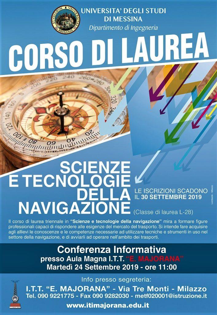 corso di laurea scienze e tecnologia della navigazione