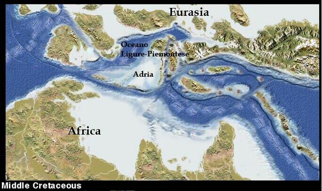 milioni di anni fa sulla mappa terrestre era presente un continente denominato Grande Adria, successivamente sprofondato sotto il mantello terrestre