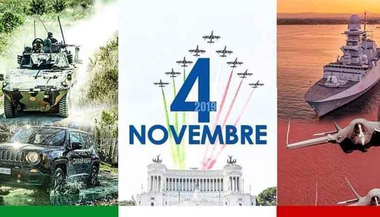 """4 novembre """"Giorno dell'Unità Nazionale e Giornata delle Forze Armate"""""""