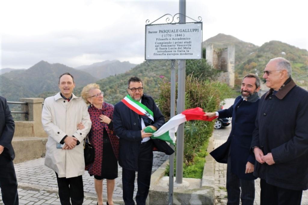 Castello di Santa Lucia del Mela: il piazzale dedicato a P. Galluppi