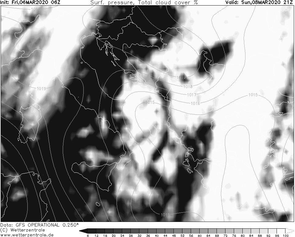 Previsioni meteo per le giornate di Sabato 7 e Domenica 8 marzo 2020